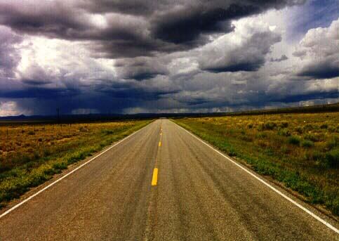 open road storm ahead